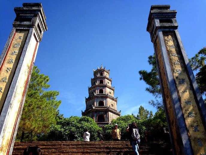 후에 티엔무 사원 후에 여행 후에 관광 후에